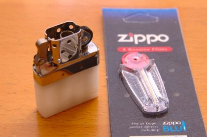 zippo BLU とおまけのフリント